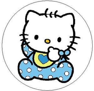 300x292 Hello Kitty Baby Boy~ 1 Sticker Seal Labels! Ebay