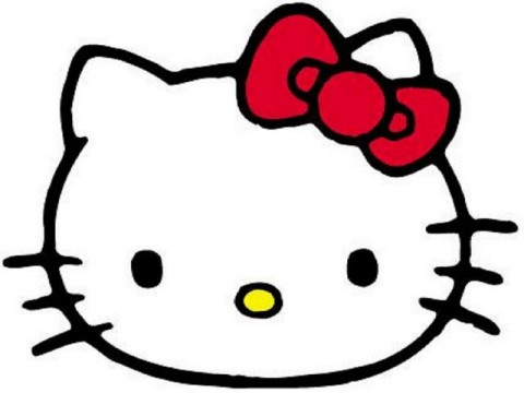 480x360 Hello Kitty Face Clipart Image