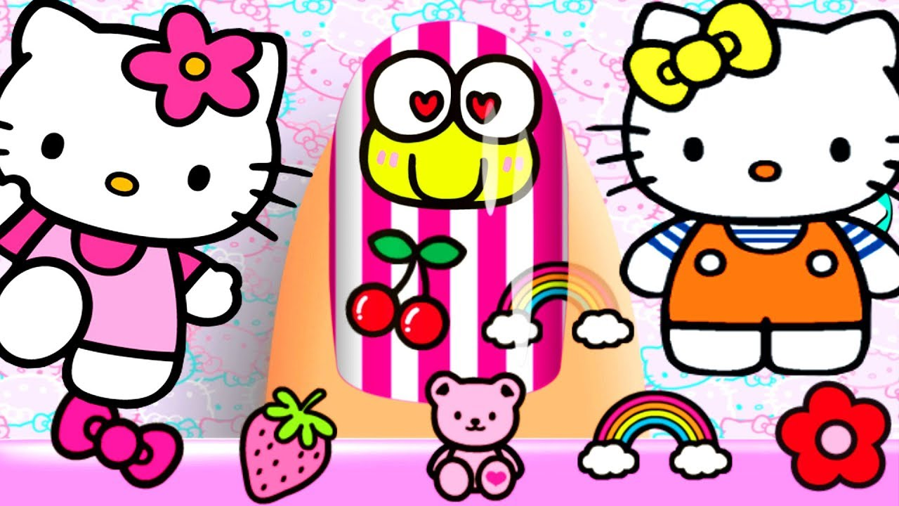 1280x720 Learn Colors For Children With Baby Hello Kitty Nail Salon Kids
