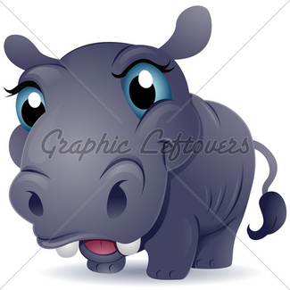 325x325 Cute Hippo Gl Stock Images