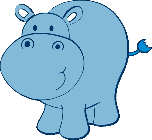 522x478 Cute Baby Hippo Clipart Kid