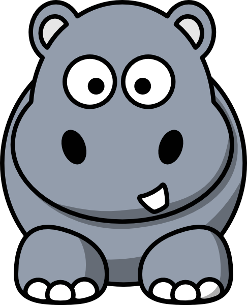 486x600 Front View Baby Hippo Clipart