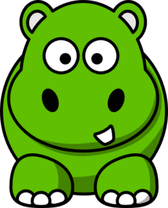 243x300 Green Hippo Clip Art