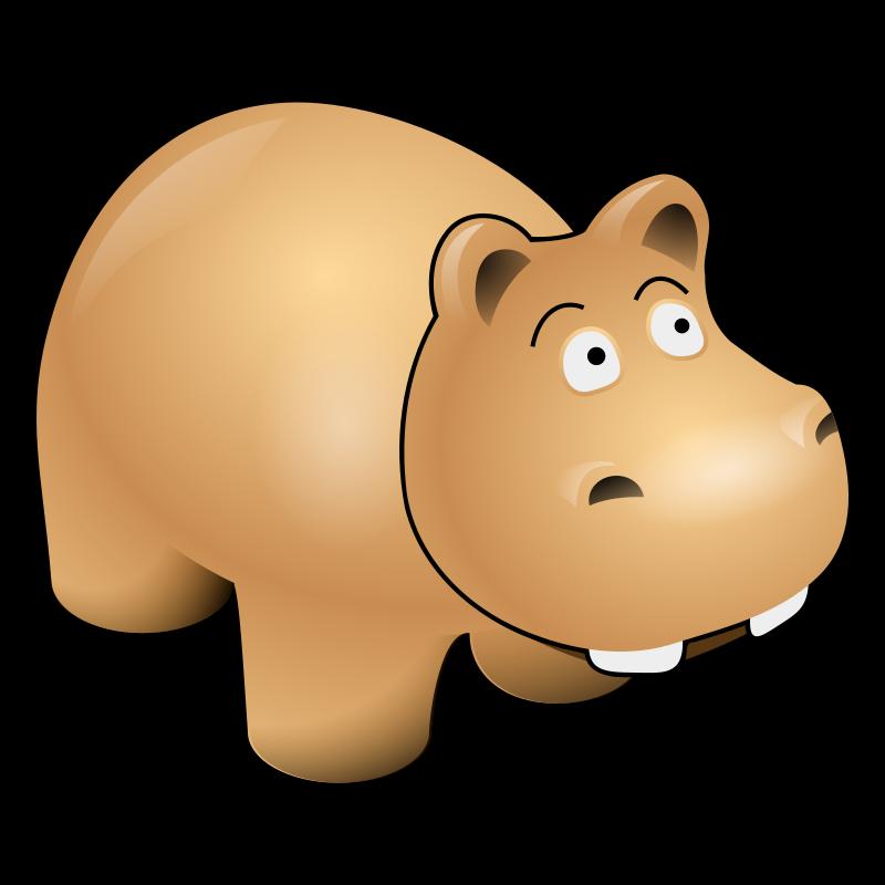 800x800 Hippo Clip Art 3 Image