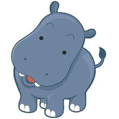 236x236 Adorable Clipart Baby Hippo