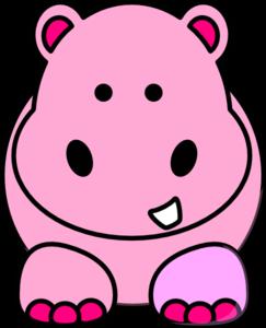 243x300 Pink Hippo Clip Art