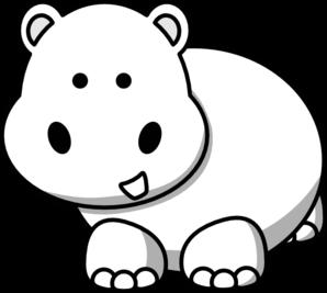 298x267 Side Hippo Clip Art