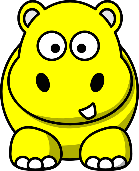 486x600 Yellow Baby Hippo Clipart