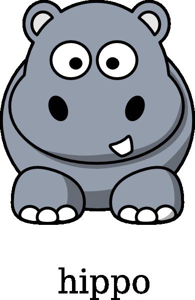 390x599 Baby Hippo Clipart Kid