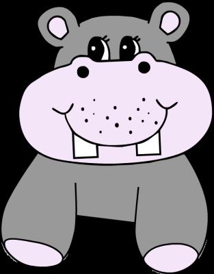 313x400 Clip Art Of Cartoon Hippopotamus Clipart Image 2