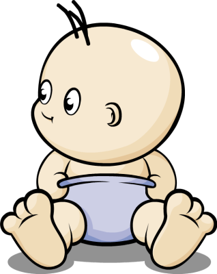 318x400 Baby In Diaper Clipart Clipart