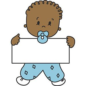 Baby In Diapers Clipart