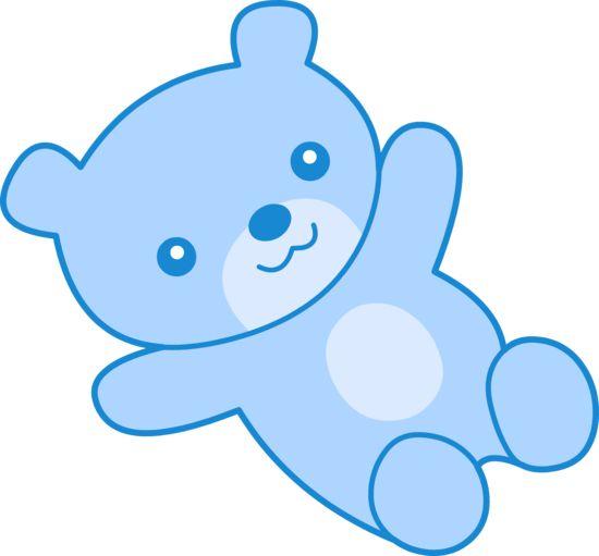 550x511 Baby Blue Teddy Bear Clip Art