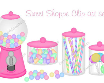 340x270 Baby Girl Nursery Crib Changing Table Digital Clip Art Set