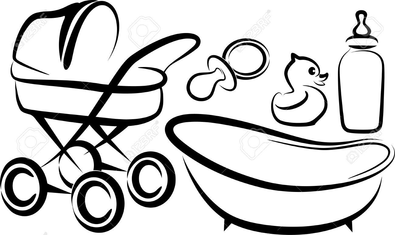 1300x775 Drawn Baby Baby Stroller