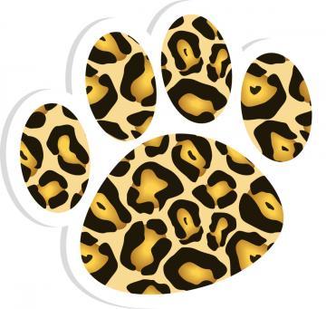 360x341 Jaguar Paw Print Clip Art