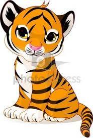 185x273 Baby Siberian Tiger Cartoon