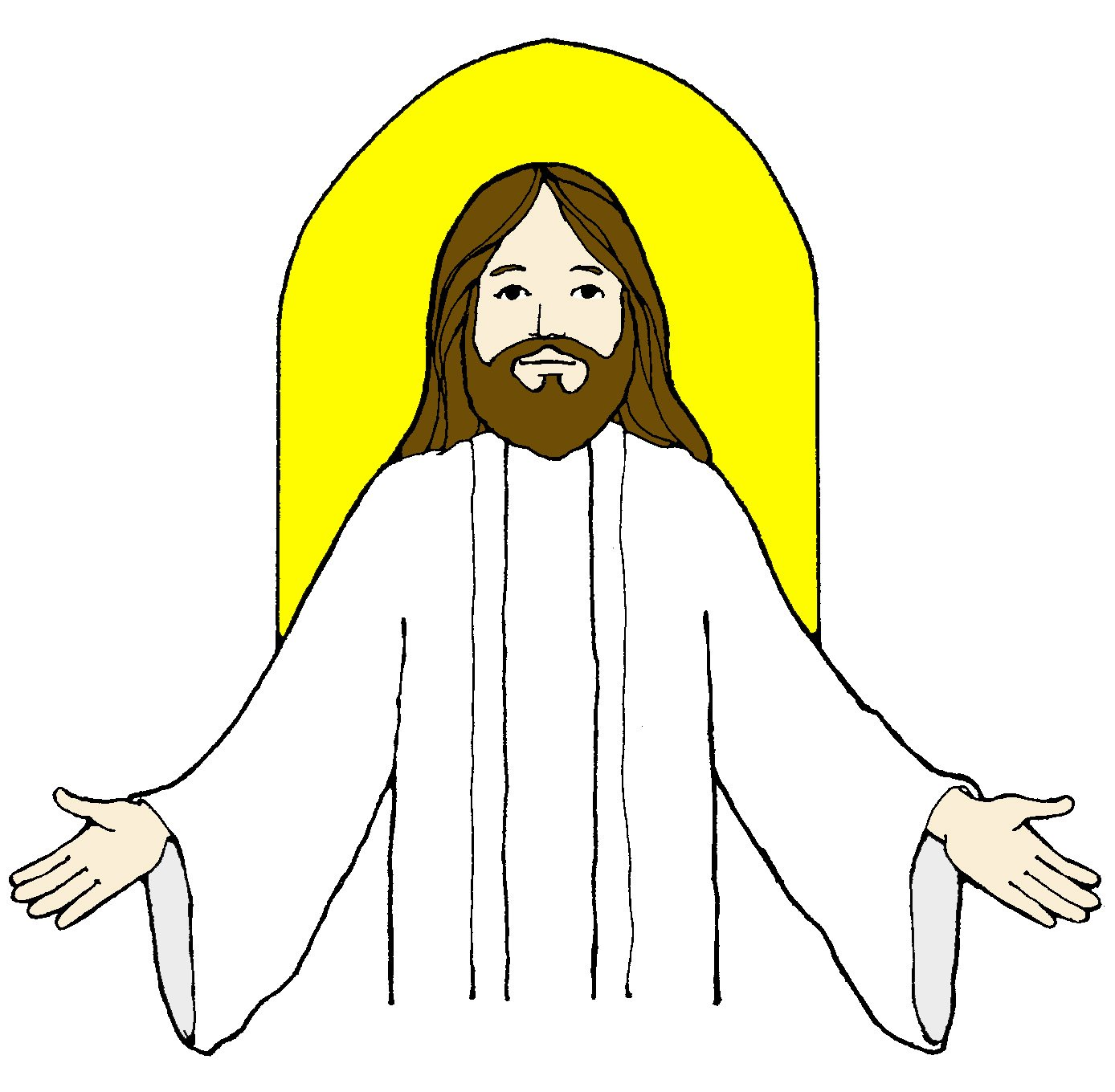 1388x1360 Jesus Clip Art Black And White Free Clipart Images