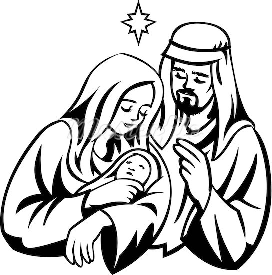 544x550 Baby Jesus Black And White Clipart
