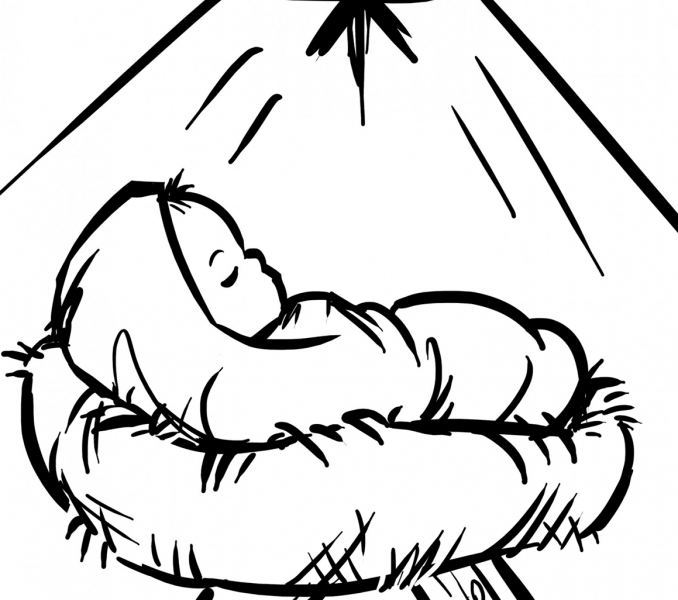 678x600 baby jesus coloring pages