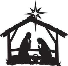 236x228 Free Nativity Clipart Black And White