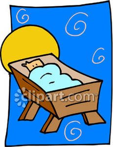 231x300 Jesus In A Manger Royalty Free Clipart Picture