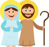 170x163 Clipart Of Virgin Mary, St. Joseph And Baby Jesus K7721991