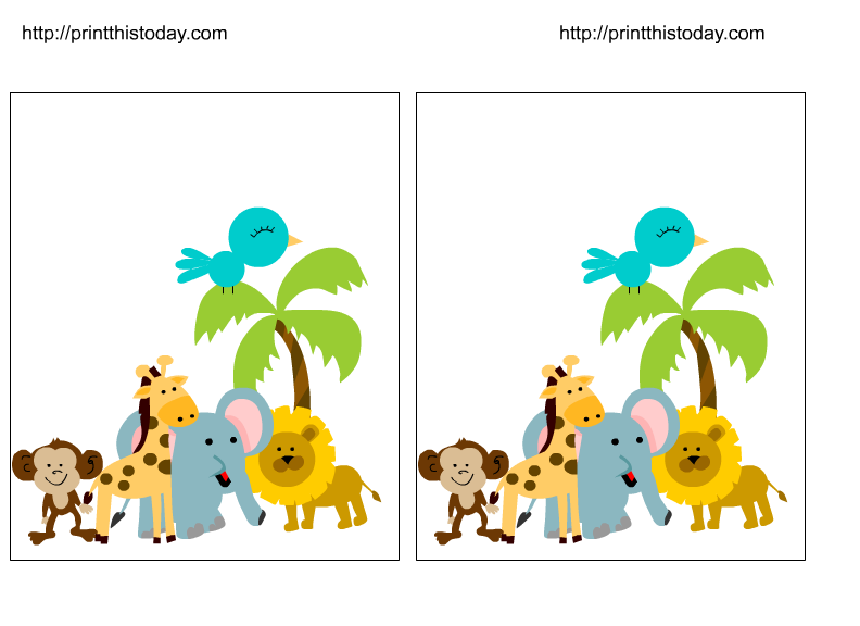 792x576 Baby Jungle Clipart