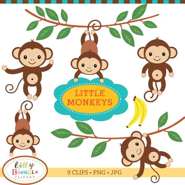 600x600 Baby Shower Monkey Clip Art