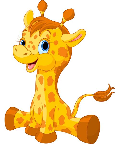 500x600 Cute Giraffe Giraffe, Clip Art And Baby Cards