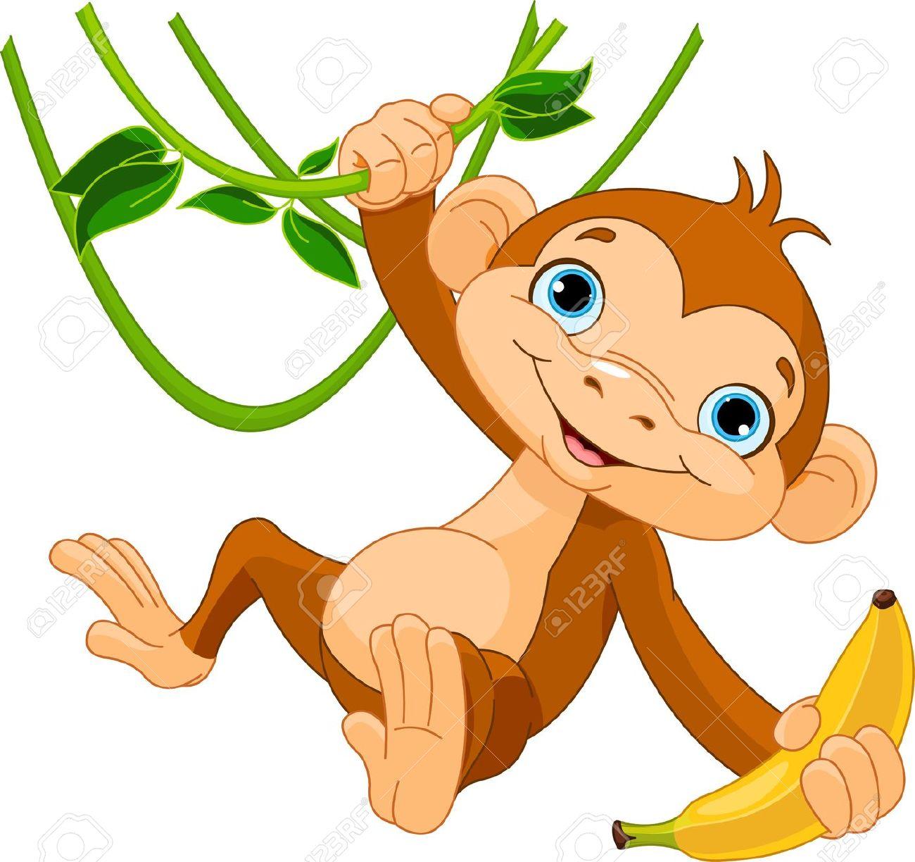 1300x1224 Monkey Jungle Clipart, Explore Pictures