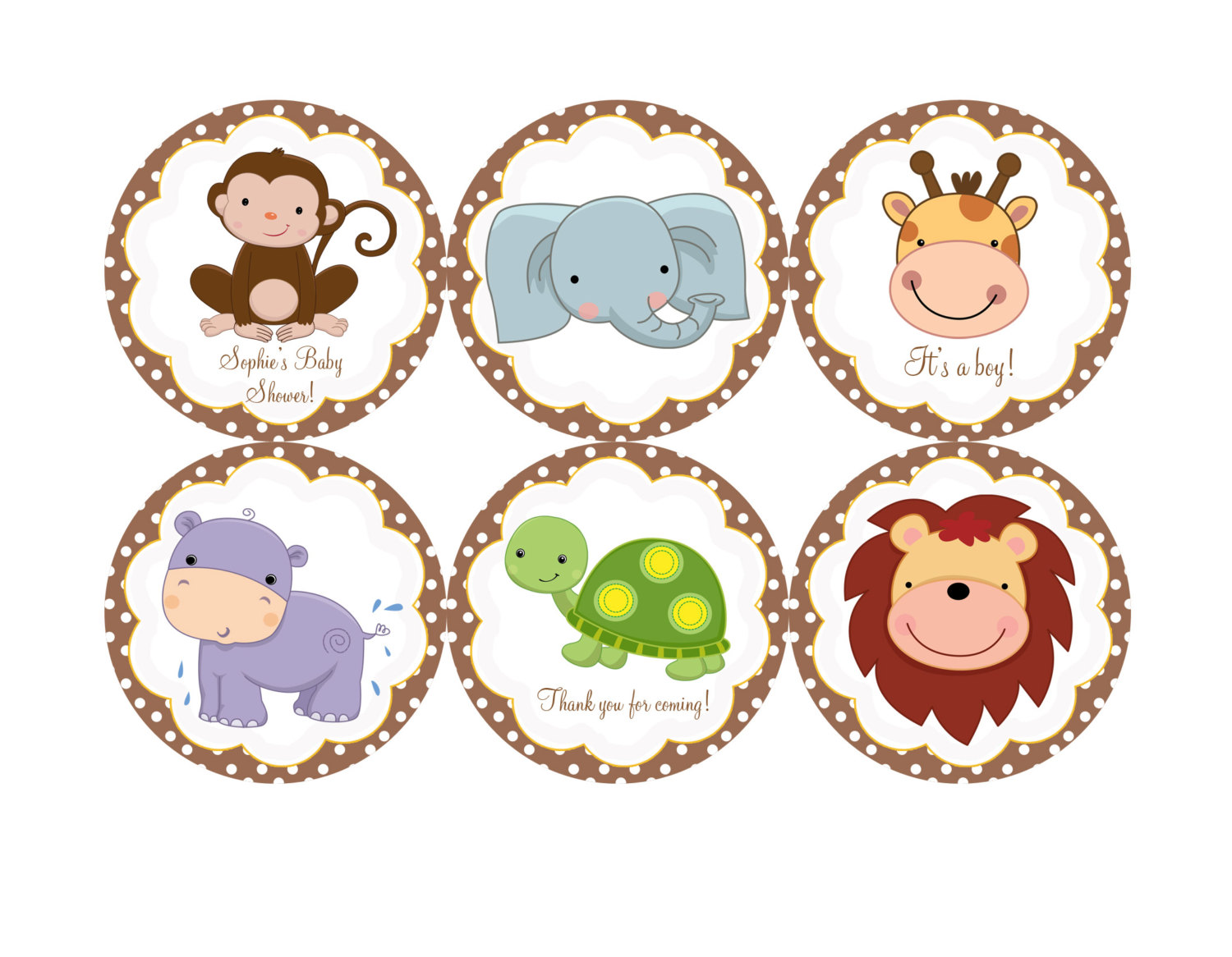 1500x1166 Baby Animal Clipart Baby Shower Jungle Theme