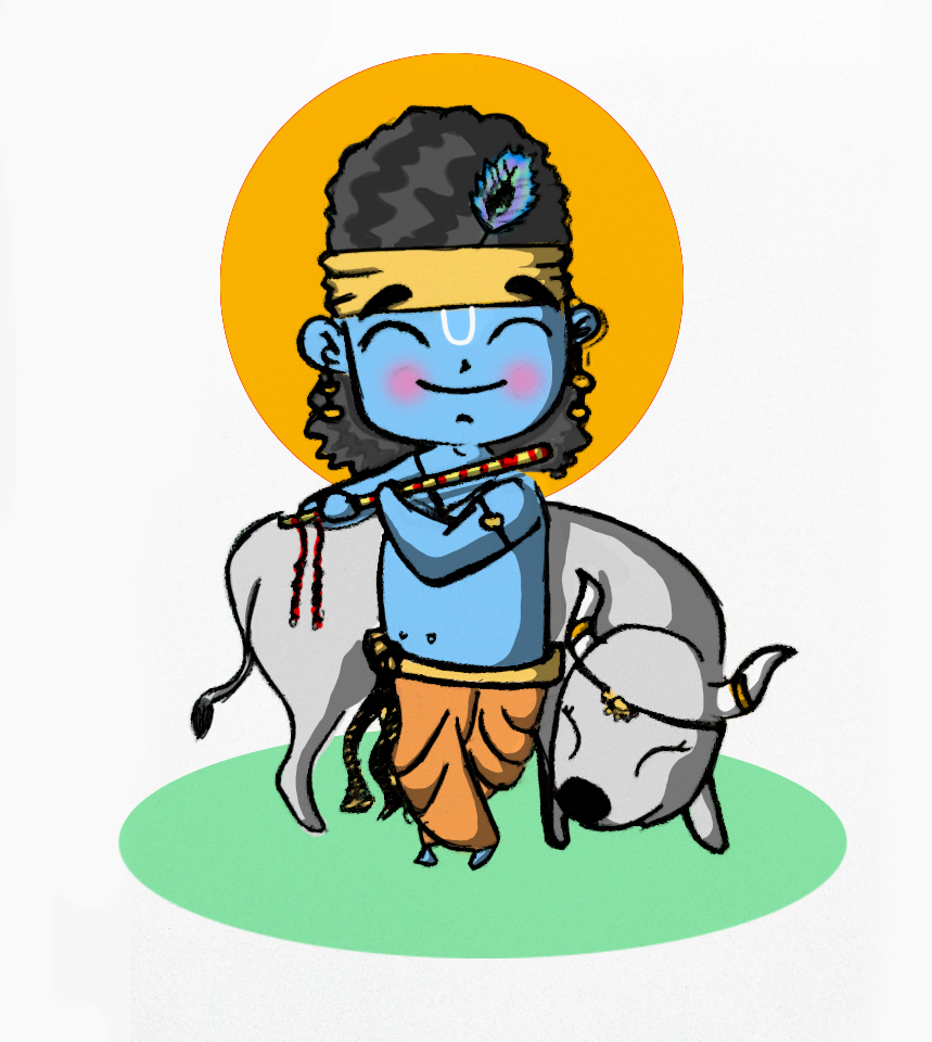 859x960 Chibi Lord Krishna By Chibistupid