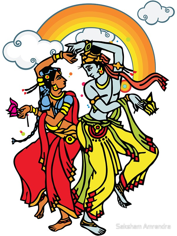 600x800 Radha Amp Krishna Stickers By Saksham Amrendra Redbubble