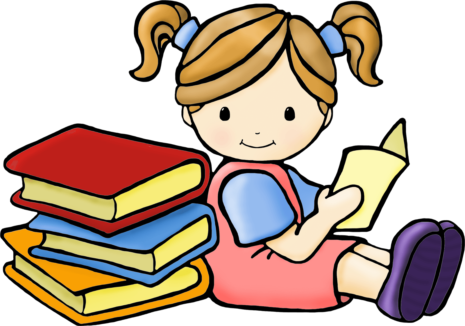 1600x1123 Reading Girl Cliparts 249404