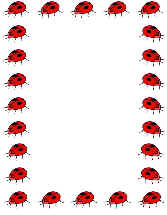 580x747 Ladybug Border Clip Art