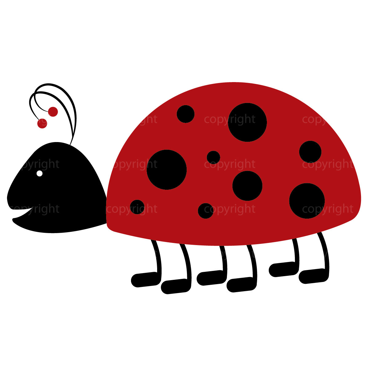 1200x1200 Ladybug Clipart Commercial Use Whimsical Art Love Bug Garden