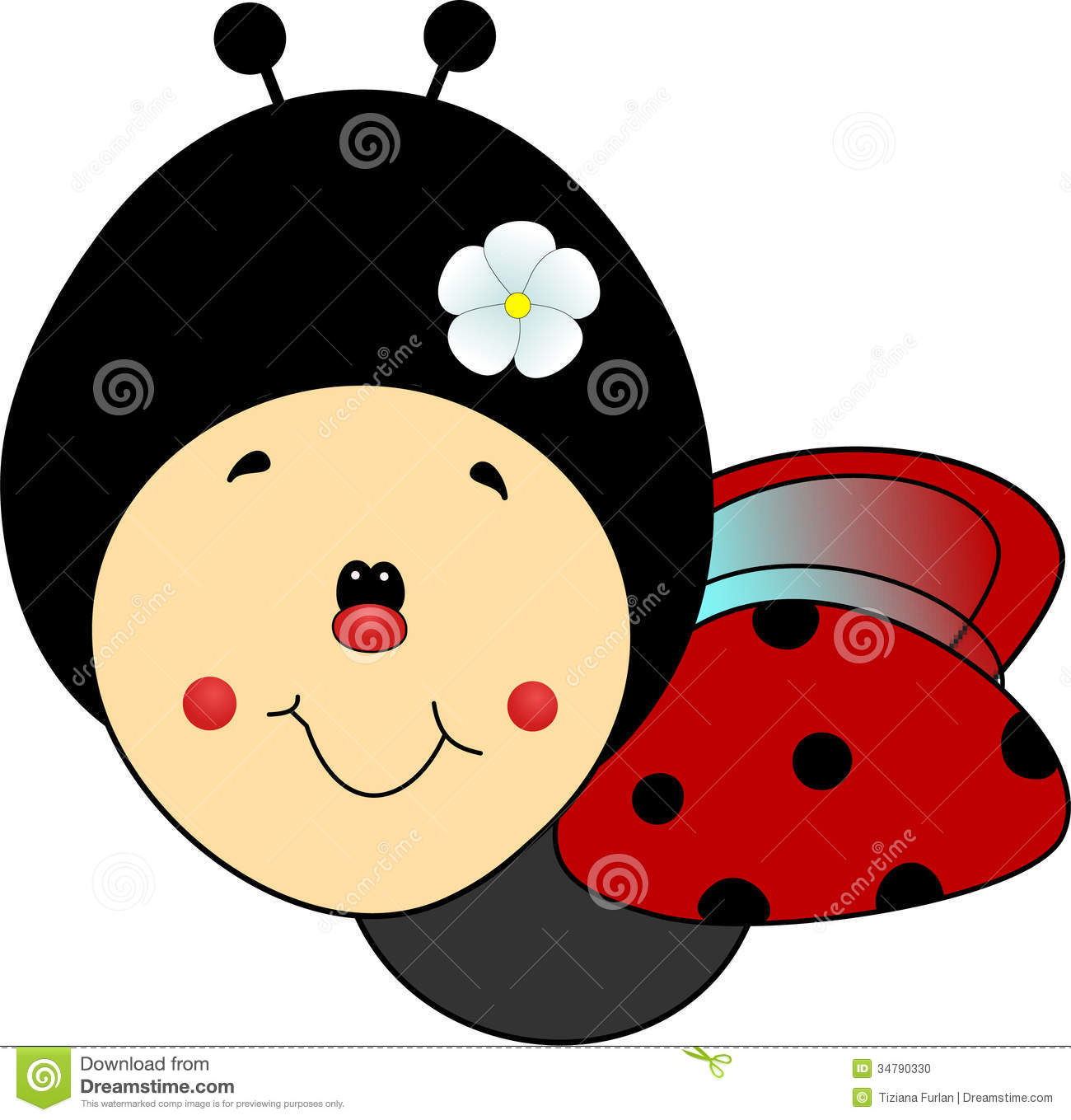 1300x1359 Ladybug Clipart Cute Smile