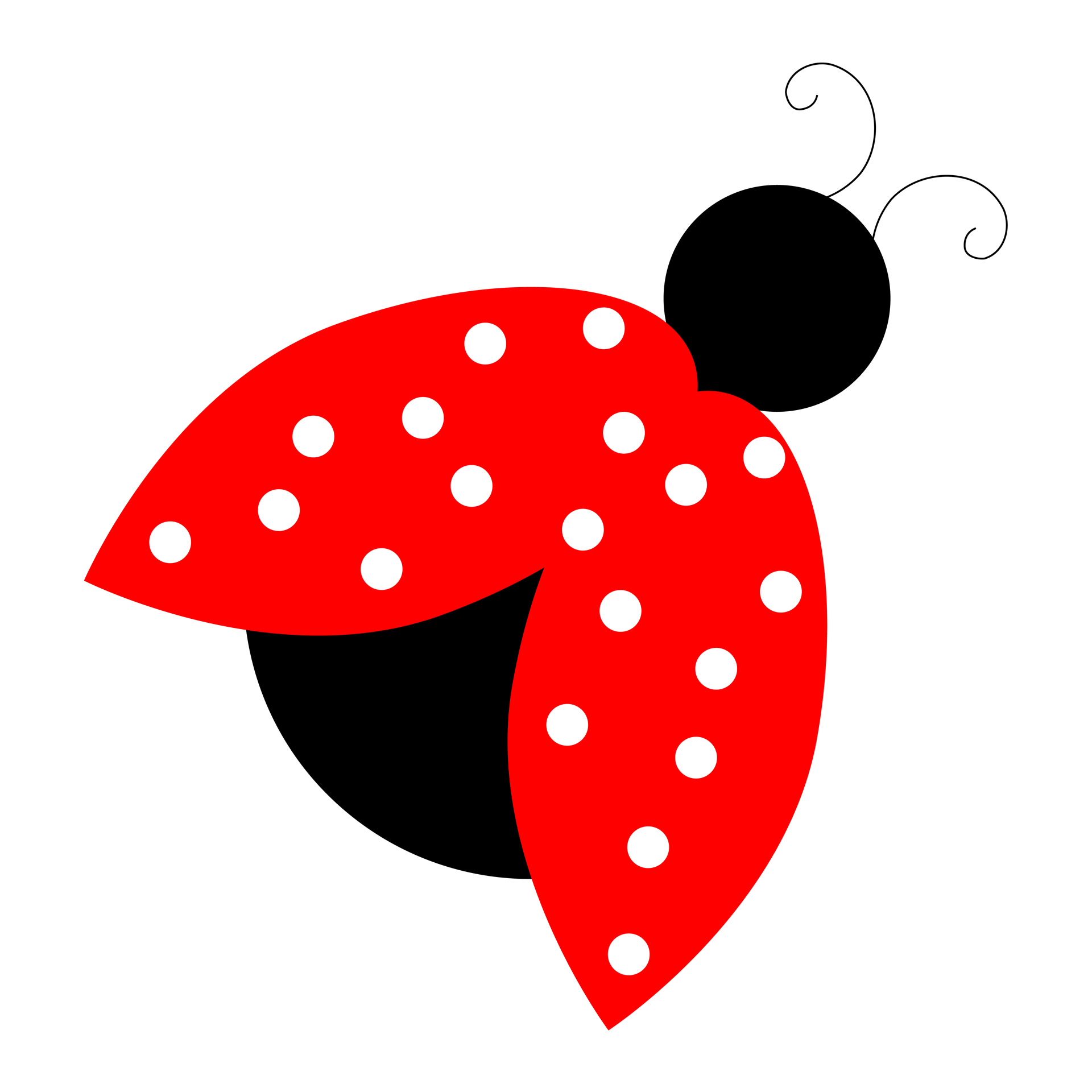 1920x1920 Red Ladybug Clipart Free Stock Photo