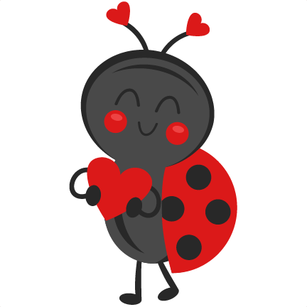 432x432 Valentine Ladybug Clip Art