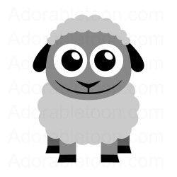 250x250 Cute Sheep Clipart