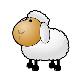 340x340 Cute Baby Sheep Clipart Image