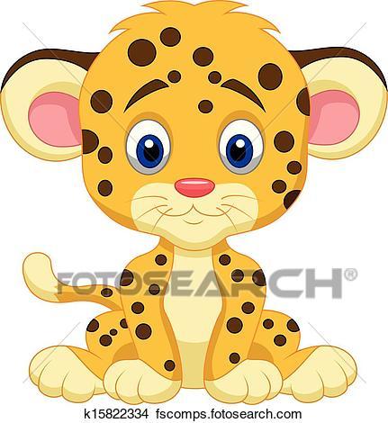 431x470 Clipart Of Baby Leopard Cartoon K15822334