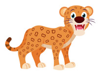 210x153 Free Leopard Clipart