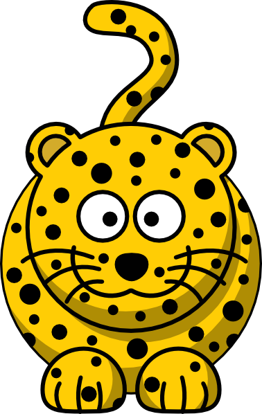 378x598 Leopard Clip Art