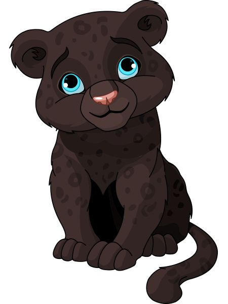 450x600 Leopard Clipart Baby Panther