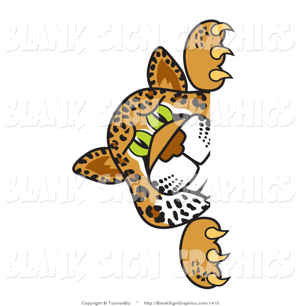 1024x1044 Vector Illustration Of A Cheetah Jaguar Or Leopard Looking Around