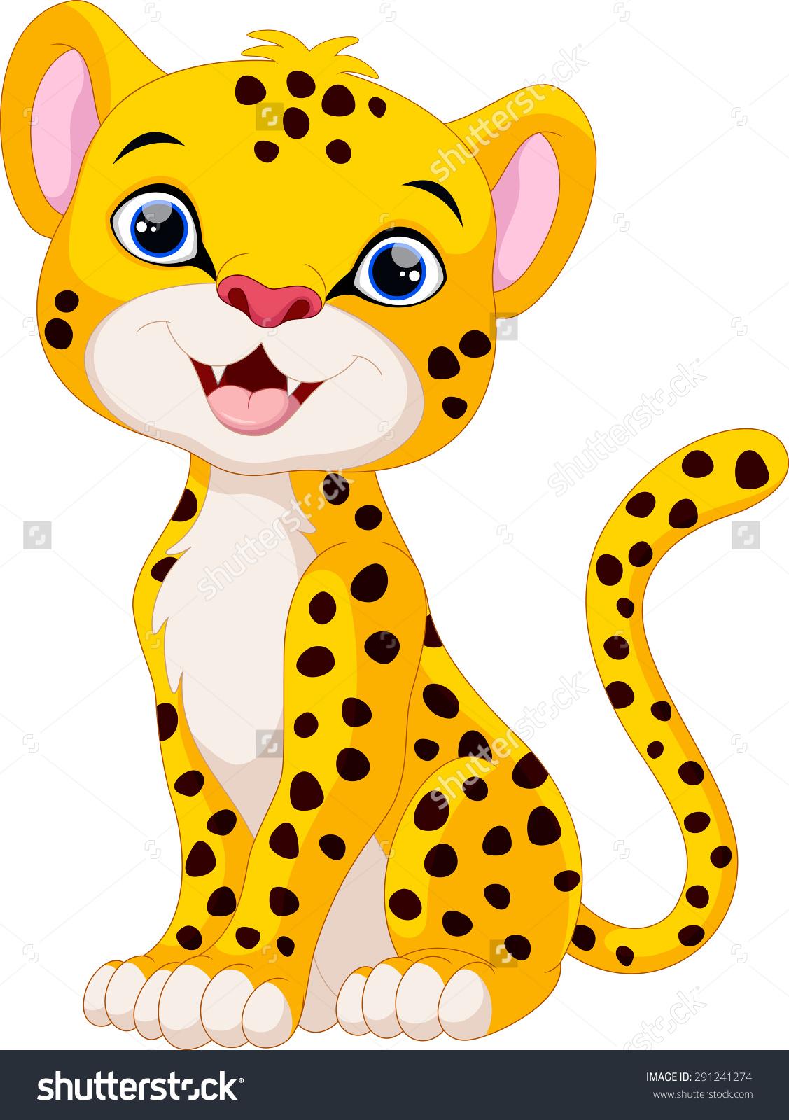1127x1600 Cute Chetah Clipart