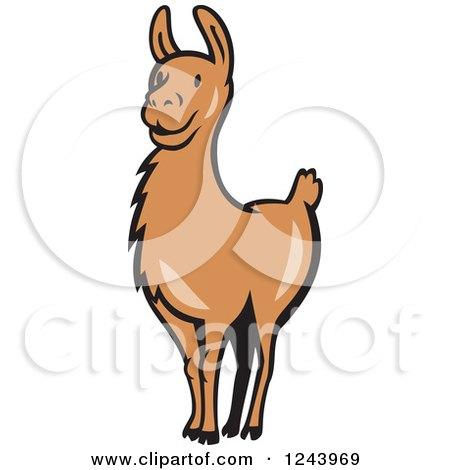 450x470 Brown Clipart Llama
