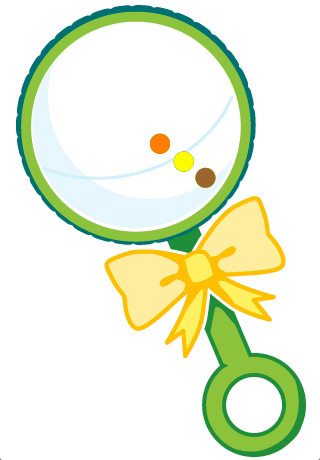 320x460 Free Baby Rattle Clipart